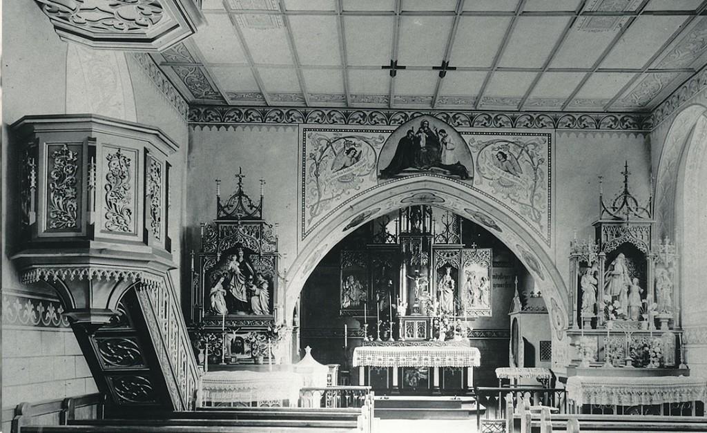St. Verena nach der Renovierung in den Jahren 1903/1904 (bis 1968)