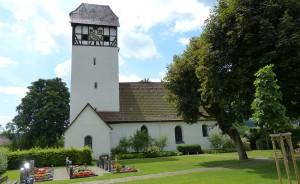 St. Verena Außenansicht und Kirchturm 2014