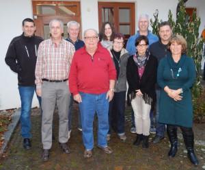Ausschuss des Wandervereins im Jahr 2016; es fehlen Frank Wager und Hubert Mocker